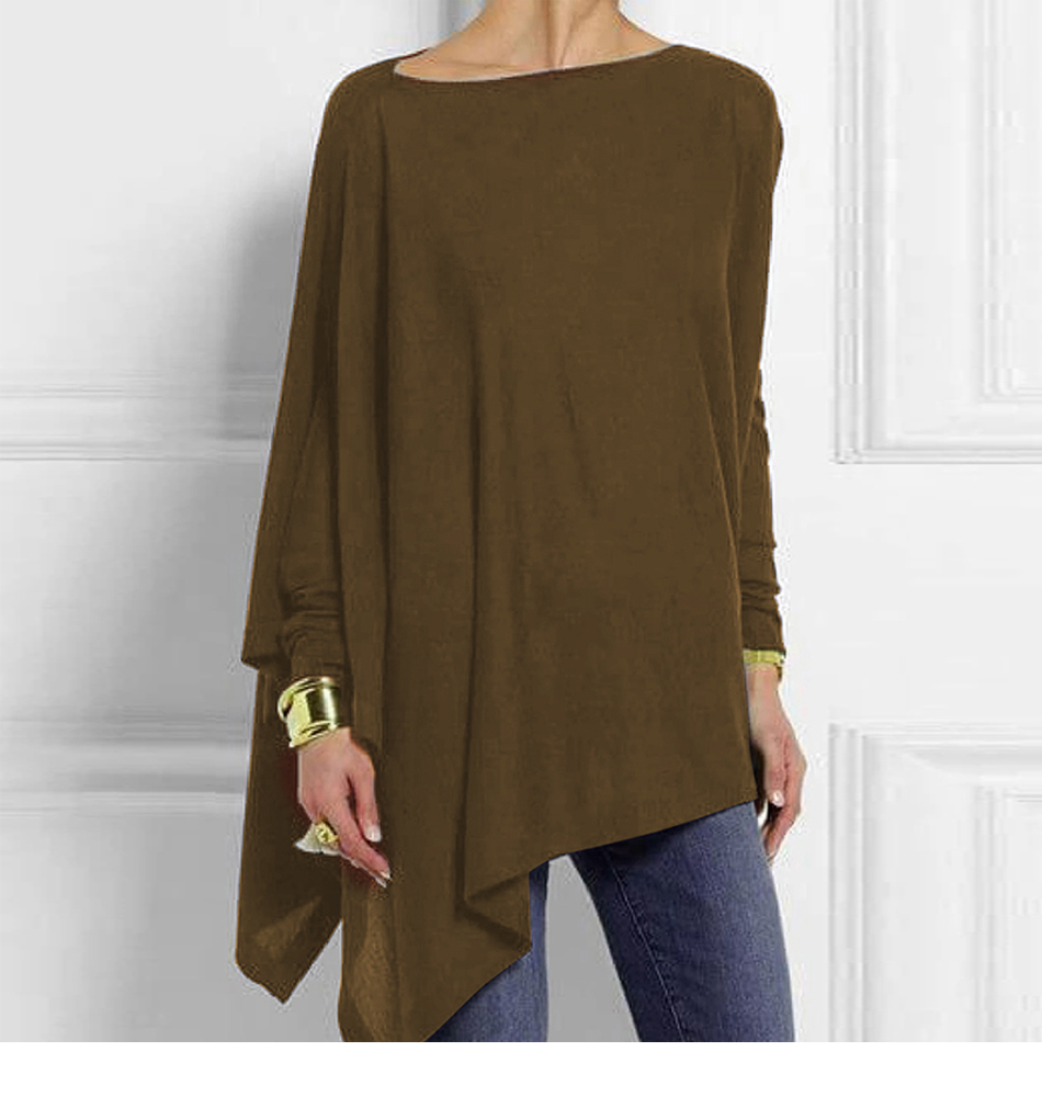 Cotton Irregular Womens Tops And Blouses Casual O Neck Long Sleeve Top Female Tunic 2019 Autumn Spring Plus Size Women's Blouse H6ee9723f7d7d4d6595c89124373af19eG