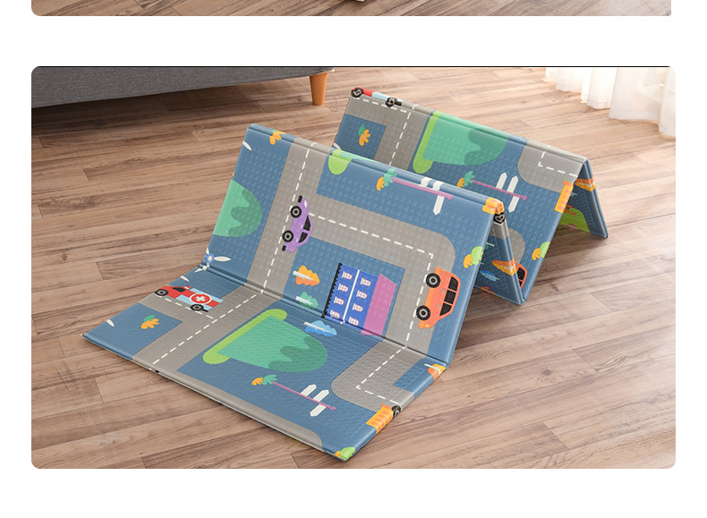 H6ee974e394e94b6386ab689fd060b61d7 Miamumi Portable Baby Play Mat XPE Foam Double Sided Playmat Home Game Puzzle Blanket Folding Mat for Infants Kids' Carpet Rug