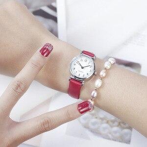 Image 4 - Watch Women Slim Leather Band Analog Quartz Wristwatches Classic Retro Fashion Casual Ladies Clock Relogio Feminino Montre Femme
