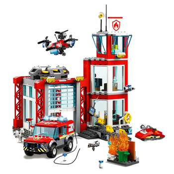 New City Series Toys Bricks Fire Station Compatible lepining City 60215 Building Blocks Figure for Children Christmas Gift