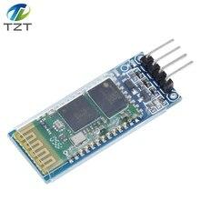 Ücretsiz kargo! 10 adet HC06 HC 06 kablosuz seri için 4 Pin Bluetooth RF alıcı verici modülü RS232 TTL Arduino için bluetooth modülü