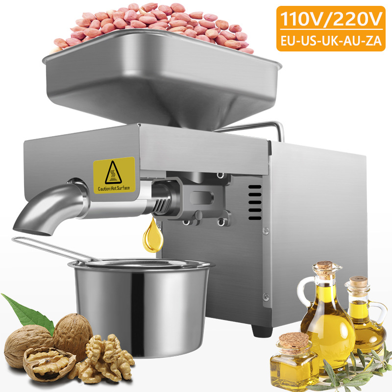 SUNZ Stainless steel Household Commercial Oil Press machine , Cold press Linseed oil extrator presser