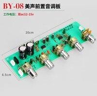 DIY pre stage BY08 MG przedstrojenie wzmacniacz przedni Panel AN4558 Op Amp liceum niska regulacja w Części do klimatyzatorów od AGD na