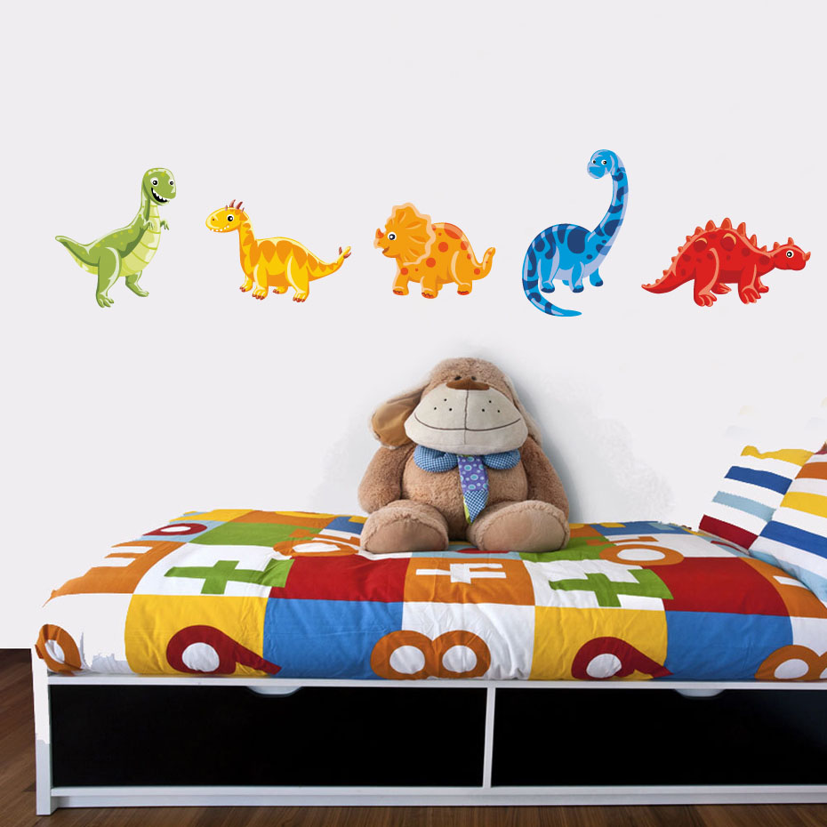 DINO Personalised ARLO DINOSAUR Inspired Wall Sticker Art Child Bedroom