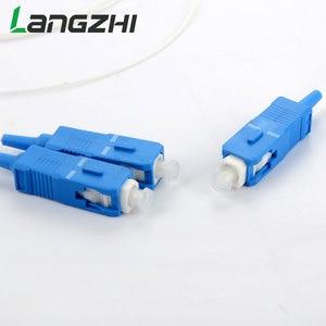 Image 3 - 10 יח\שקית SC UPC מיני PLC 1X2 יחיד מצב סיבים אופטי ספליטר FTTH PLC פלדת צינור סוג SC UPC 1x2 PLC סיב האופטי ספליטר