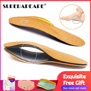High quality Leather orthotic insole for Flat Feet Arch Support orthopedic shoes sole Insoles for feet men and women OX Leg eid high quality leather orthotic insole for flat feet arch support orthopedic shoes sole insoles for feet men and women ox leg