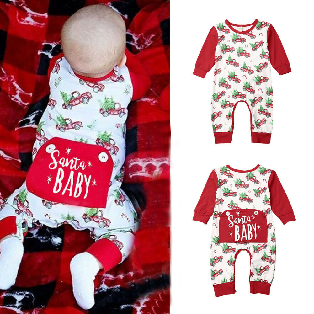RED Friday Printed Toddler Baby Girls Long Sleeve Jumpsuits Playsuit Outfits