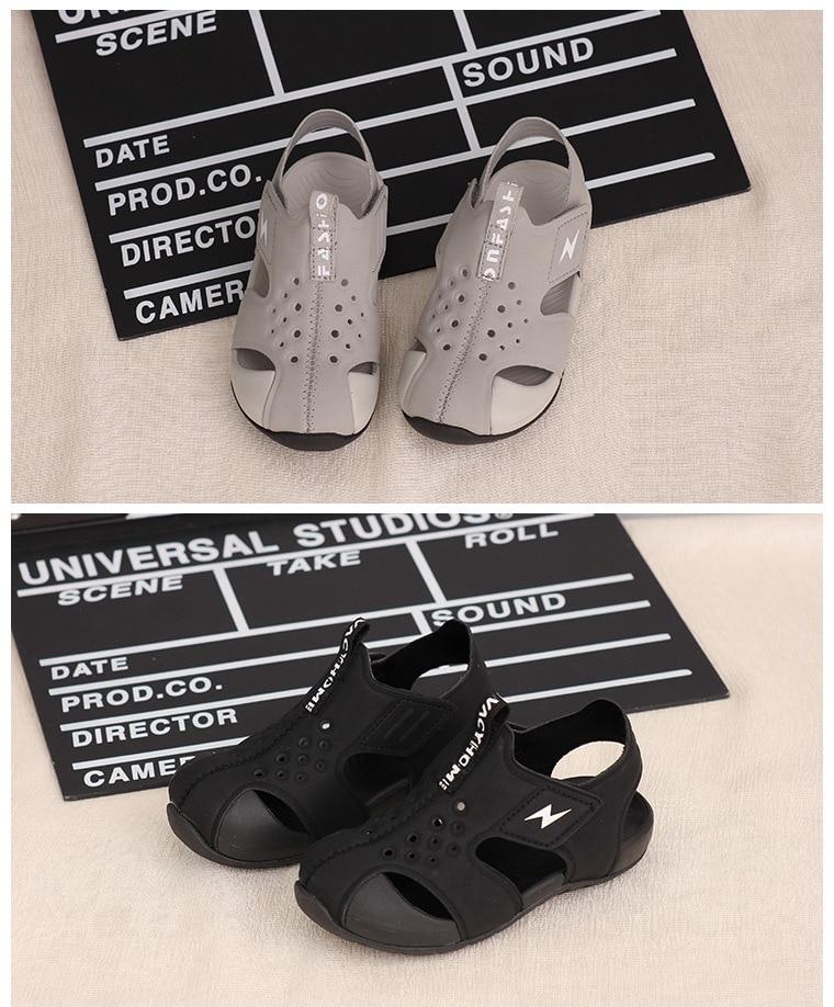 macio sapatos de praia do bebê moda