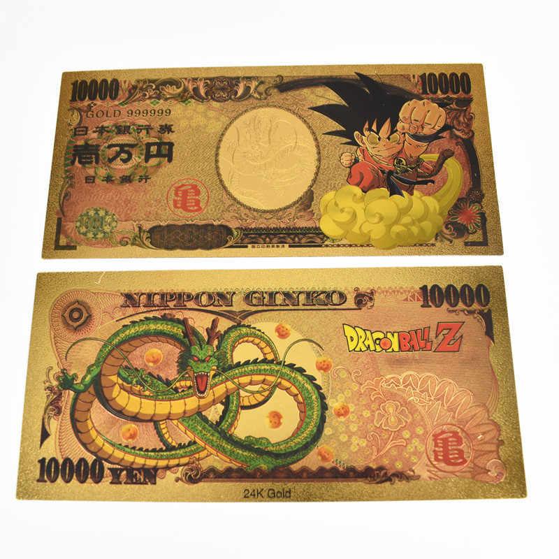 Banknote 10000 yen dragon ball z dbz gold//card card carddass//japan vegeta ssj