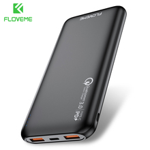 Floveme Slim Power Bank 10000mah Dual USB Powerbank For Redmi Note 8 Pro 10000 mAh Poverbank Portabl