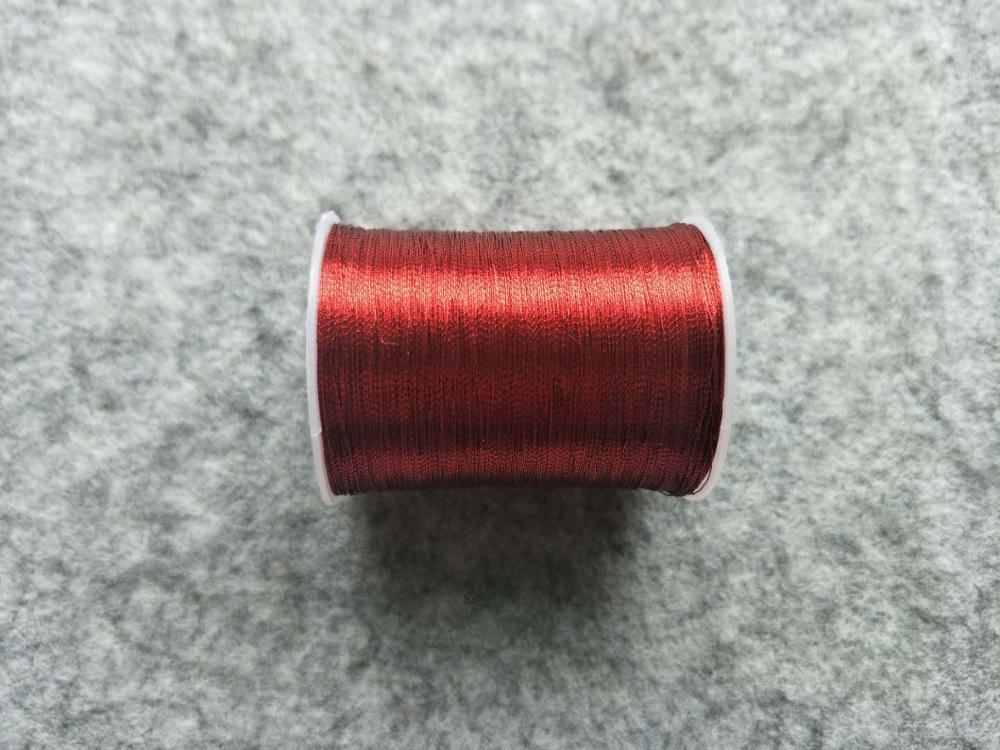 Металлическая нить для вышивки, аксессуары для одежды DIY, основные 15 видов цветов на выбор, нить для шитья, 1 шт - Цвет: red