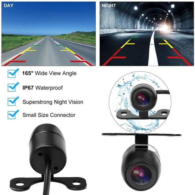 "YuanTing kamera cofania samochodu i 4.3 ""LCD widok z tyłu monitora zestaw 12 V-24 V uniwersalny przewodowy Night Vision Parking system odwróconej"