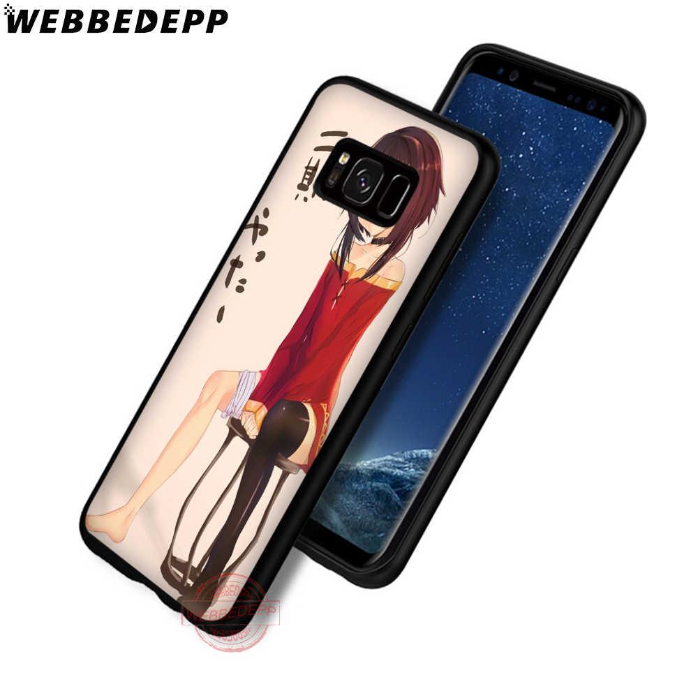 Webbedepp Anime Konosuba Megumin Soft Phone Case untuk Samsung S6 S7 Edge S8 S9 S10 Plus J4 J6 J7 J8 note8 9 10