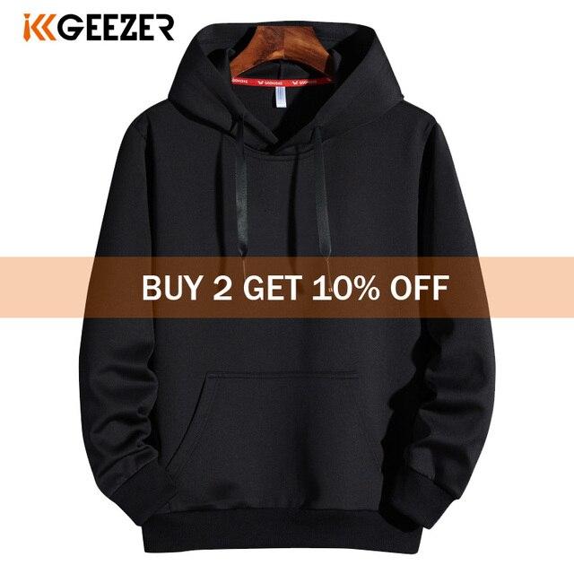 Men Hoodies 5XL 6XL 7XL 8XL Hooded Sweatshirts Men Hood Streetwear Male Black 2020 Spring Autumn Casual Solid Color Long Sleeve
