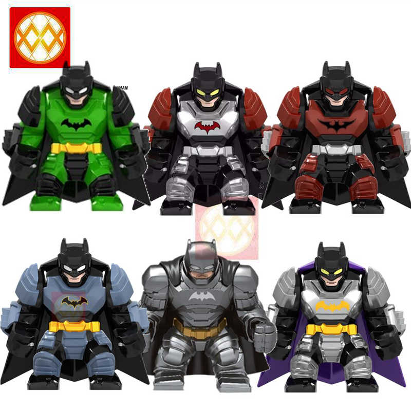 Fairy  Big Size Batman Movie Collection White Silver Black Batman with Wings Weapon Building Blocks Kids Toys Juguetes