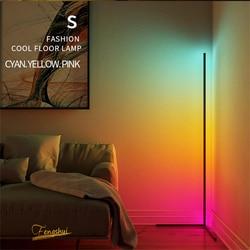 Lâmpada de led nórdica, luz de andar de canto, atmosfera do quarto, luz de chão, quarto, sala de estar, colorida, escurecimento, luz de pé