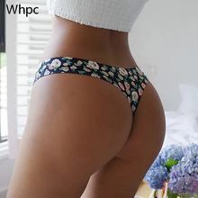 Seamless Panties Lingerie Intimates Thongs G-String Breathable Underwear Print Girls