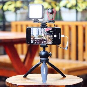 Image 5 - Ulanzi PT 2S DSLR Kamera Verlängern Dual Kalt Schuh Halterung Smartphone Vlog Montieren Platte Mikrofon LED Licht Halter