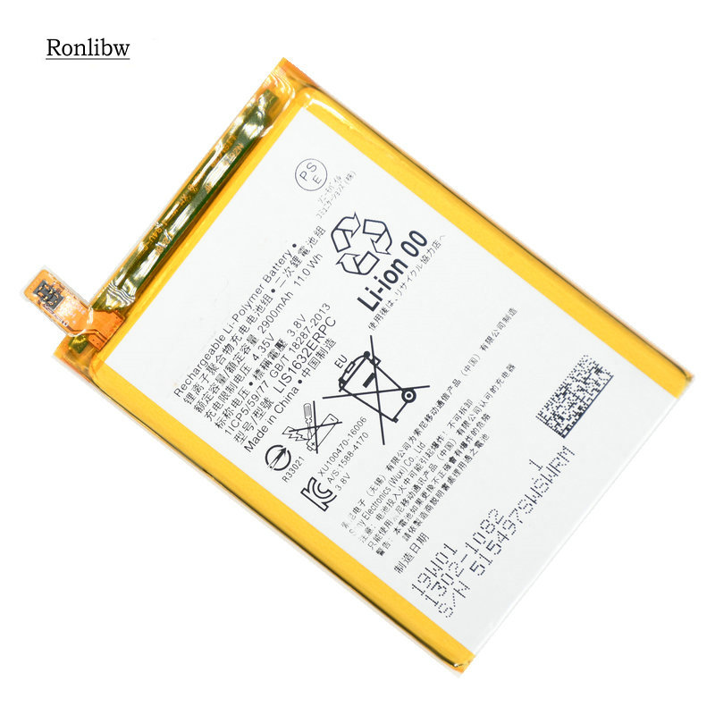 Ronlibw 2900mAh LIS1632ERPC replacement mobile phone <font><b>Battery</b></font> For Sony <font><b>Xperia</b></font> <font><b>XZ</b></font> XZs F8331 F8332 moblie phone <font><b>battery</b></font> image