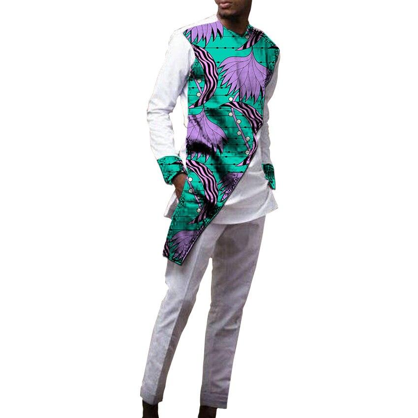 Мужской брючный комплект в африканском стиле из брюк и топа