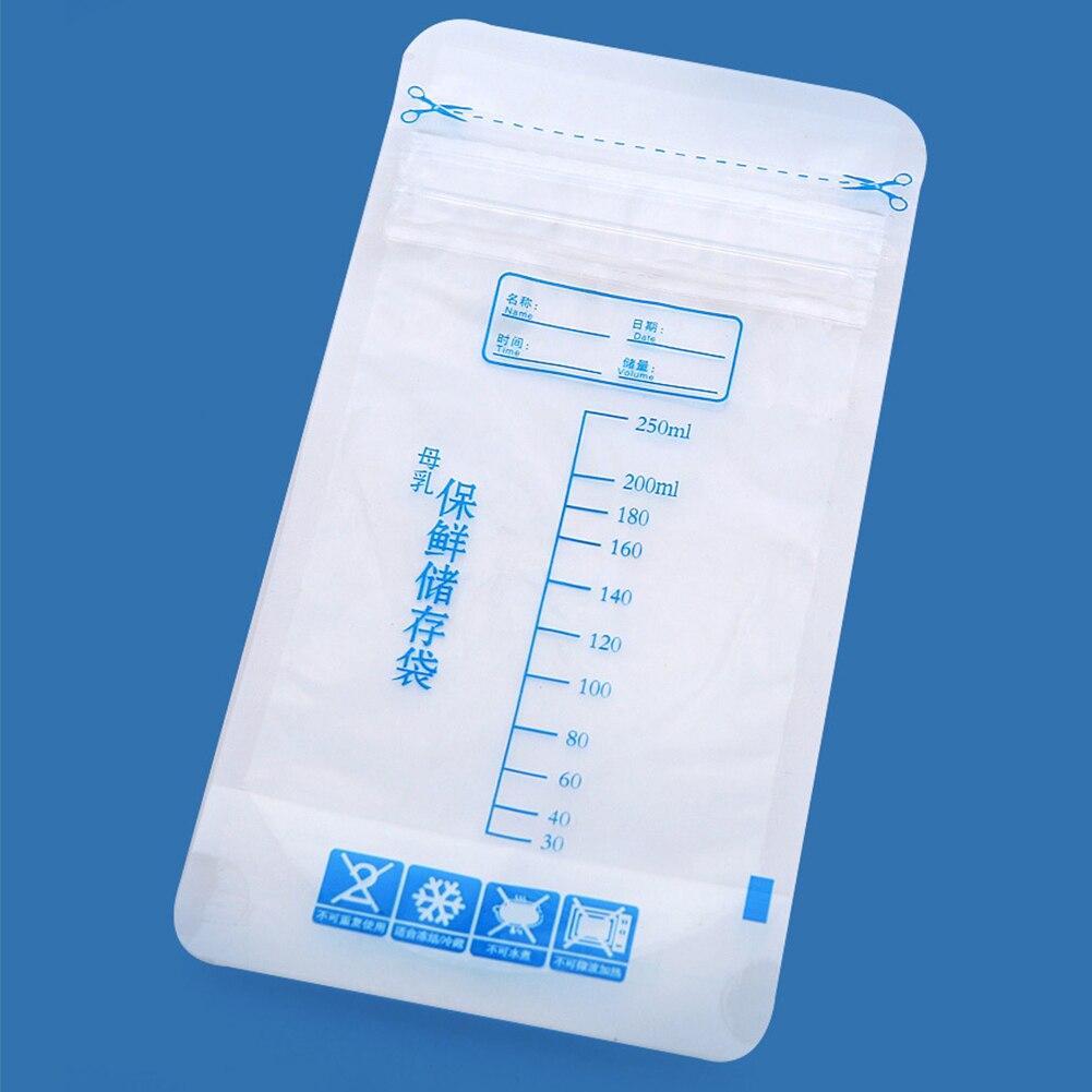 30pcs Labels Breast Milk Storage Disposable Safe Freezer Bag
