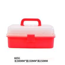Трехслойный прозрачный пластиковый ящик для инструментов портативный