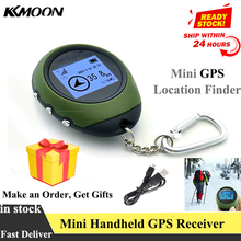 Mini GPS Navigation Receiver Portable Outdoor Location Finder Tracker with Kay Chain USB Rechargeable Tracking Recorder