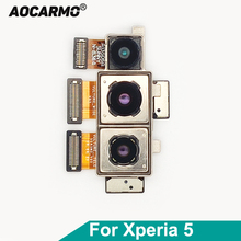 Aocarmo Three Back Rear Main Camera Module Flex Cable For SONY Xperia 5 / X5 J8210 J9210 Replacement