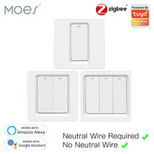 Tuya Zigbee Smart Switch Taster Wand Licht Schalter Keine Neutralen Draht und N + L Erforderlich, alexa Google Home Kompatibel