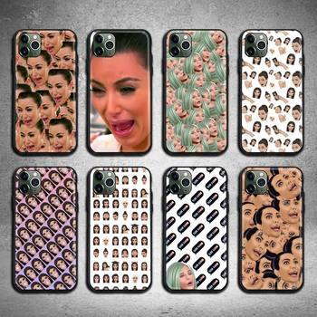 Kimoji Kim Kardashian west north kylie jenner custodia per telefono per iphone 12 pro max mini 11 pro XS MAX 8 7 6 6S Plus X 5s SE 2020 XR