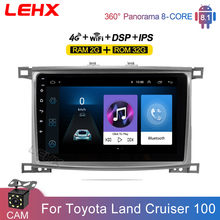 LEHX Car Radio Multimedia Video Player 10 Inch Android 8 1 2din dvd For Toyota Land Cruiser LC 100 2002 2007 cheap CN(Origin) Double Din 10 1 50x4 128G DVD-R RW DVD-RAM Video CD JPEG Silver grey 1024x600 1 5kg Bluetooth Built-in GPS Charger