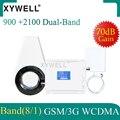 XYWELL 3g Усилитель сотового сигнала GSM повторитель 900 3g UMTS 2100 двухдиапазонный усилитель мобильного телефона 2g 3g 900/2100 МГц усилитель