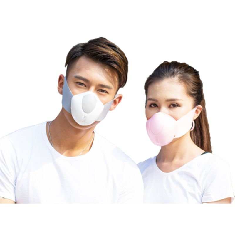Adult Electric Mouth Mask Smart Air Purifier 5-Layer Filter USB Charging Dustproof Anti Pollution Haze PM2.5 Respirator