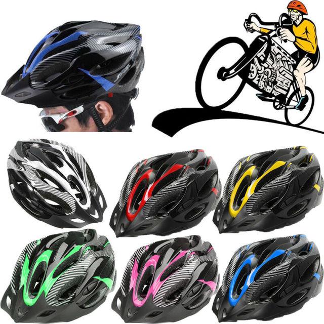 Capacetes ajustáveis de bicicleta, capacetes de ciclismo preto fosco para homens e mulheres, mountain bike e de estrada, totalmente moldados em 6 cores 2