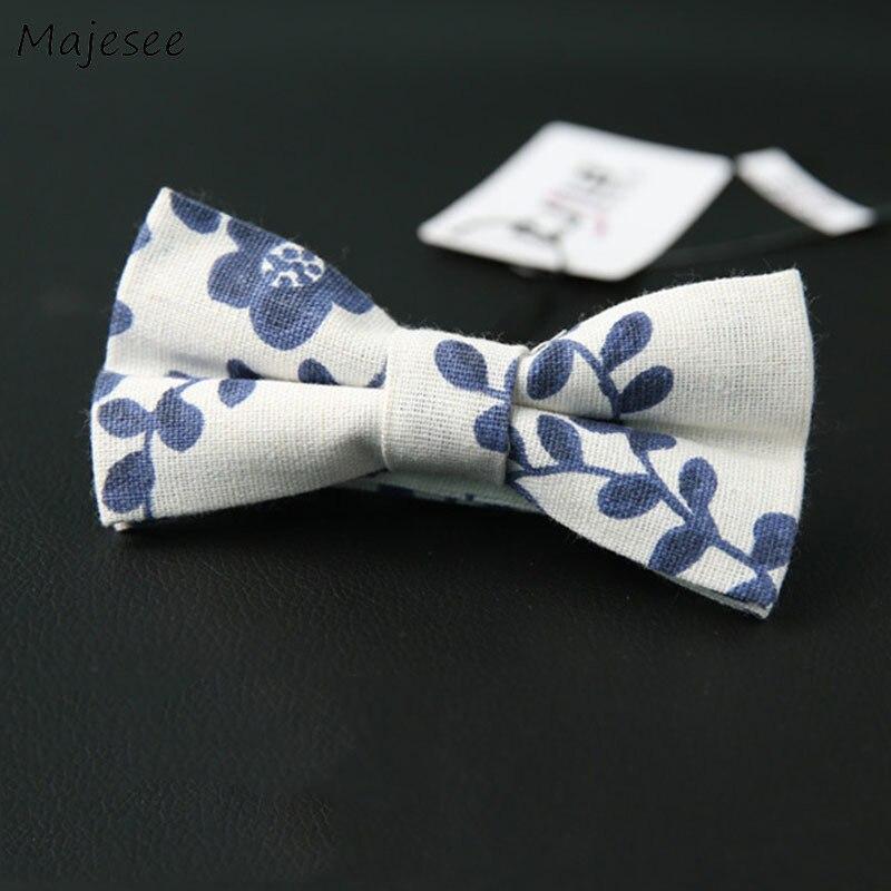 Галстуки для женщин Цветочный элегантный простой галстук-бабочка с принтом для женщин подходит ко всему Новый Ulzzang Harajuku мода для девочек