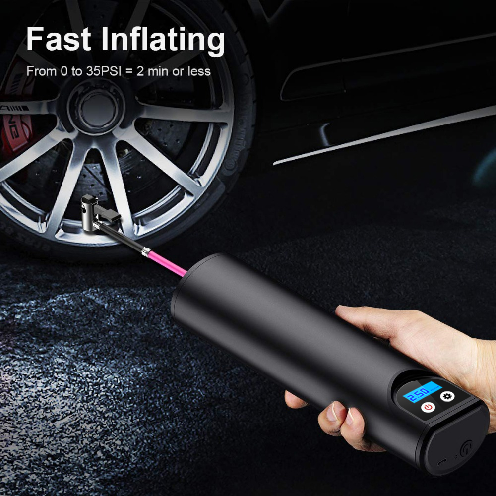 Car Air Pump 12V 150PSI Wireless Portable Compressor Digital Display Tyre Tire Inflator Handheld Inflatable Tyre Electric Pump