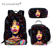 ELVISWORDS African American Black Art Girls School Backpack for 2019 Back To Kids Bag Schoolbag