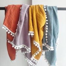 Хлопковое муслиновое одеяло для новорожденных постельные принадлежности