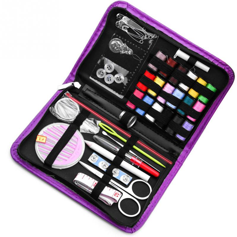 52pcs/set Portable Travel Sewing Box Kitting Needles Tools Thimble Mini Thread Scissor Sewing Kit Quilting Thread Stitching