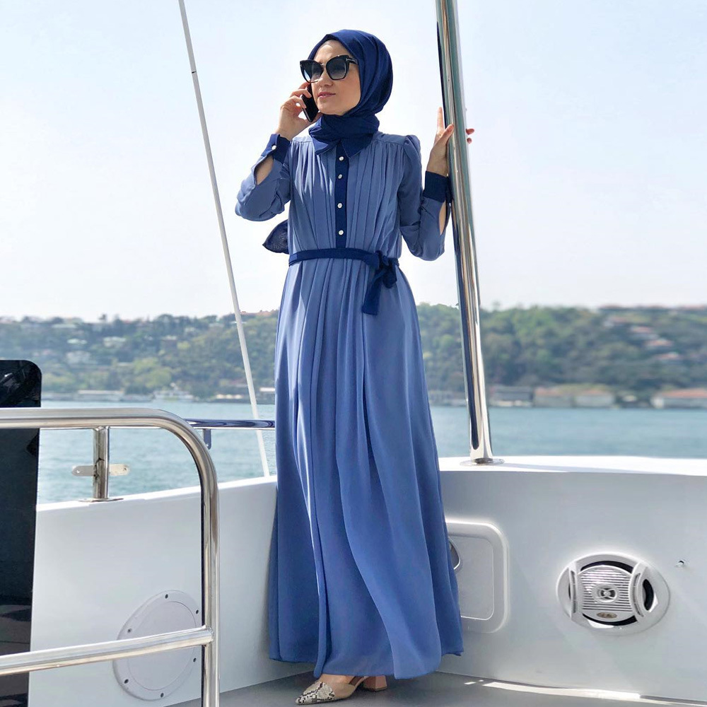 Kaftan Dubai Abaya Turkey Hijab Muslim Dress Abayas For Women Ramadan Jilbab Caftan Marocain Robe Musulman Islamic Clothing