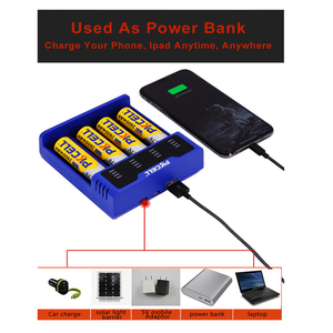 Image 4 - 1Pcs * PKCELL סוללה מטען עבור עבור 1.2V 3.7V 3.2V AA AAA 26650 18650 18350 14500 10440 CRCR123A 5V 2A עם תצוגת LED USB קו