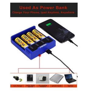 Image 4 - 1Pcs * PKCELLแบตเตอรี่Chargerสำหรับ1.2V 3.7V 3.2V AA AAA 26650 18650 18350 14500 10440 CRCR123A 5V 2Aพร้อมจอแสดงผลLED USBสาย