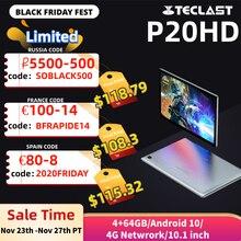 Teclast P20HD 4G Телефонный звонок 4 Гб RAM 64 ROM планшетный ПК 1920x1200 Android 10 Octa Core 10,1 дюймов IPS SC9863A GPS 6000 мАч планшеты