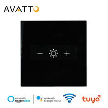 AVATTO Wifi Led Touch Dimmer Light Switch Eu Tuya Remote Control Smart Strip Bulb Dimmer Switch Amazon Alexa Google Assistant(China)
