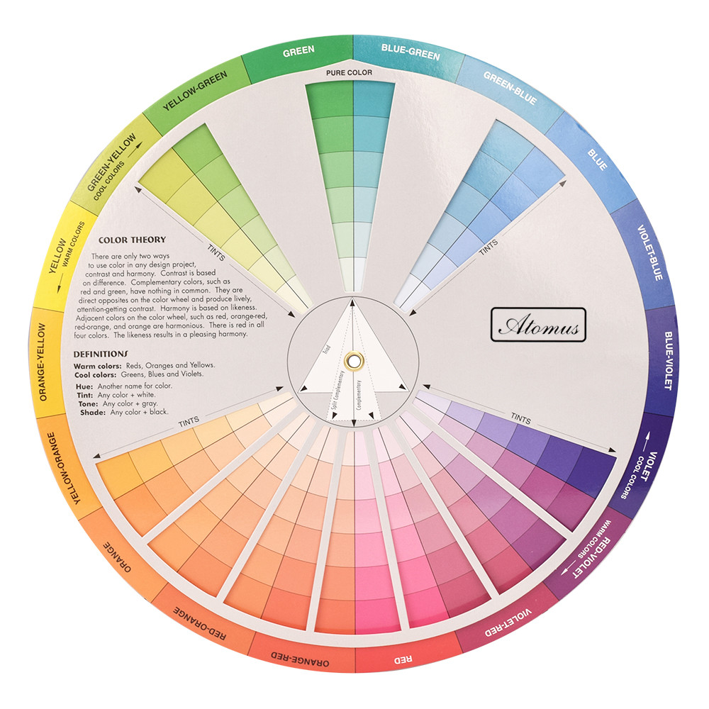 Professional Three-tier Design Color Wheel Mixing Guide Paint Nail Tattoo