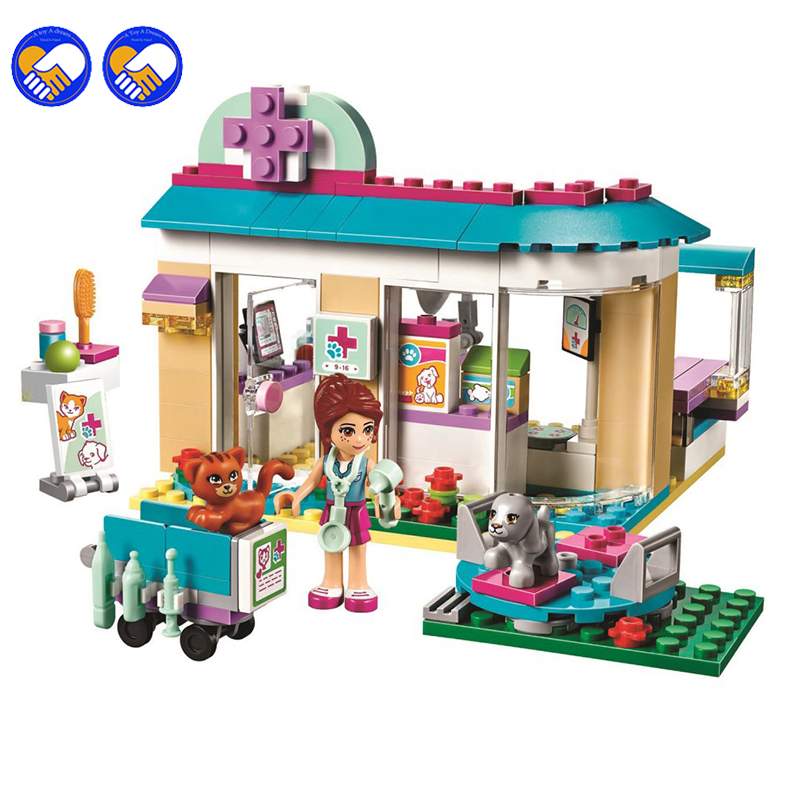 2016 New Bela 10537 203Pcs Lepining Friends Vet Clinic Model Building Blocks Kits Girls Bricks Set Toys For Children