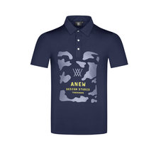 Men's Golf Polo Camouflage pattern cotton Short-Sleeve Japan Korea apparel Quick Dry Summer T-Shirt