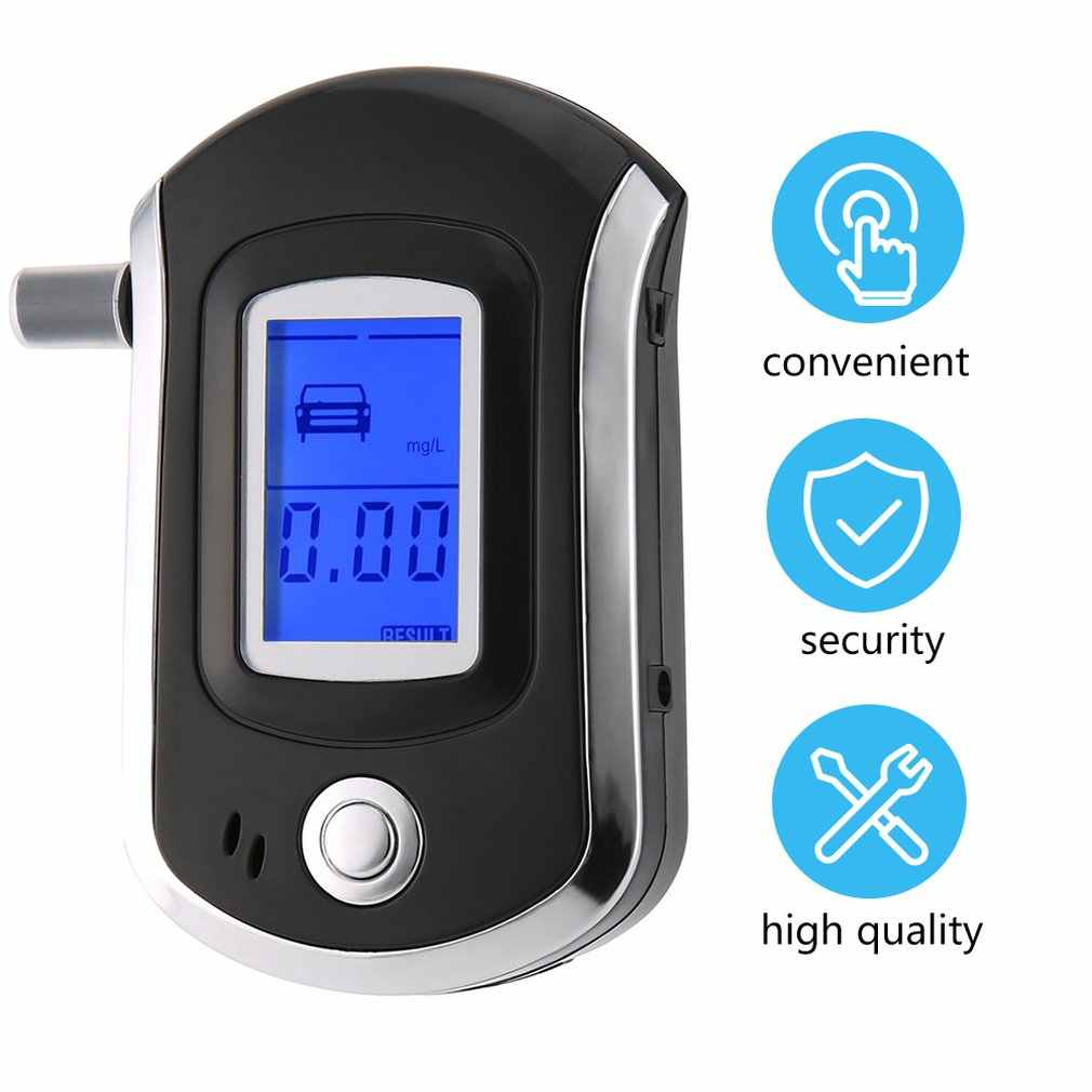 Nieuwe Professionele Alcohol Adem Tester Blaastest Analyzer Detector Test Sleutelhanger Breathalizer Breathalyser DeviceLCD Screen