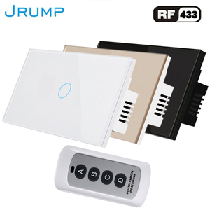 Touch Switch Remote Control wall Switched light switch With Remote Controller unit Switches Luxury Tempered Glass Ganel