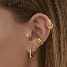 ROXI Fashion Korean Jewellery Simple Gold Round Earring 100% 925 Sterling Silver Small Round Beads Stud Earrings for Women Gifts(China)